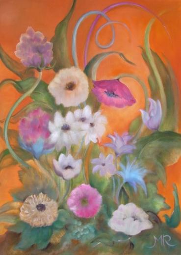 Blumen orange