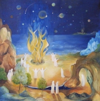 Druidische Feuerzeremonie